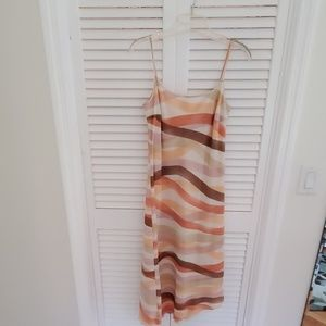 Spaghetti strap sun dress with built in liner